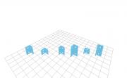 L-Winkel klein, verschiedenen Größen